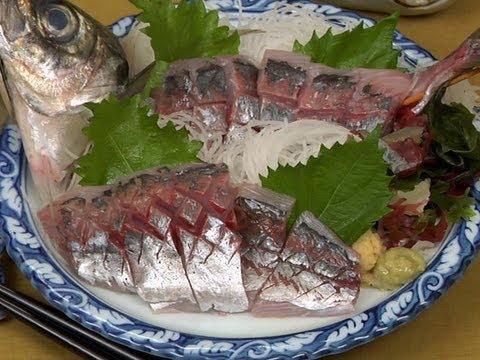Aji Sashimi アジの刺身 作り方レシピ