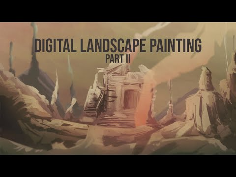 Digital Landscape Painting part II