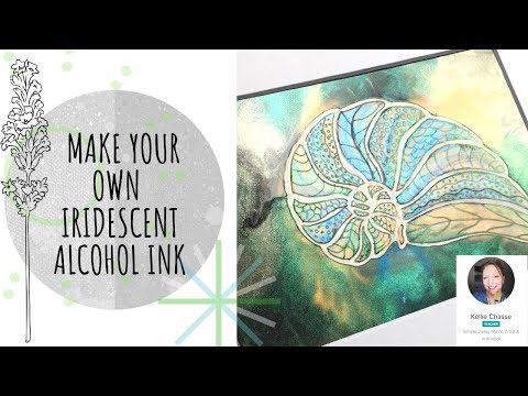 NEW CLASS PREVIEW: Mixing Iridescent Shimmer Sparkle Paints Alcohol Ink| Watercolor