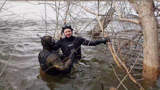 Обучение подводной охоте в коряжнике