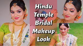 HINDU BRIDAL MAKEUP FOR MORNING TEMPLE MALAYALAM | Kerala Bridal Series | Go Glam with Keerthy