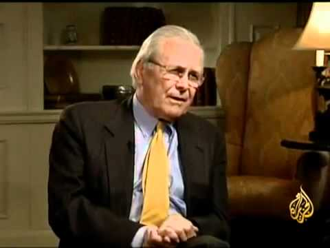 Donald Rumsfeld et Robin Wright sur Al Jazeera