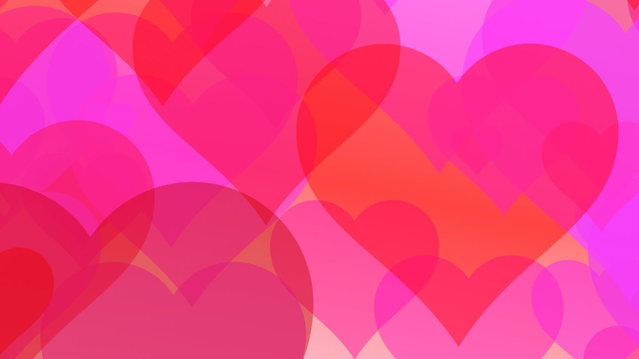 Love Hearts Romantic Hd Animated Background 24 Youtube
