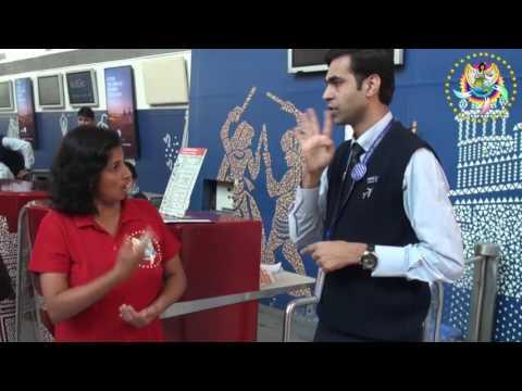 Mr Kusbang Parikh, deaf man who work at Indigo airport at Delhi India