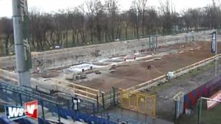 Budowa stadionu Wisły Kraków 20 03 2009