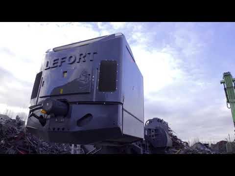 Scrap Shear Baler 1000T on tracks ! LEFORT Trax/Crawler