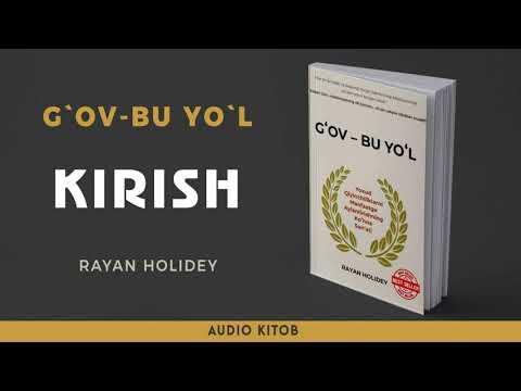 G'ov-bu YO'L! Rayan Holidey. Kirish. Audiokitob. Bestseller o'zbek tilida!