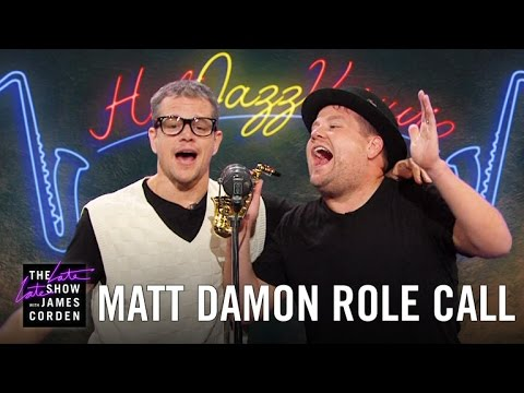 Matt Damon Acts Out His Film Career w/ James Corden en streaming