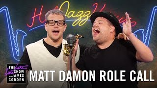 Matt Damon Acts Out His Film Career w James Corden