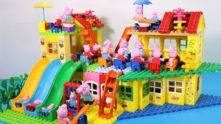 Peppa Pig Lego House Toys For Kids - Lego House With Water Slide Creations Toys #3