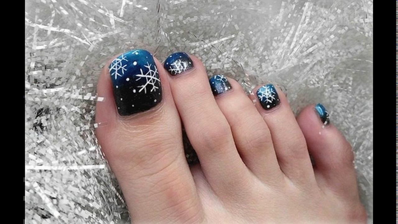 Christmas toe nail designs - YouTube