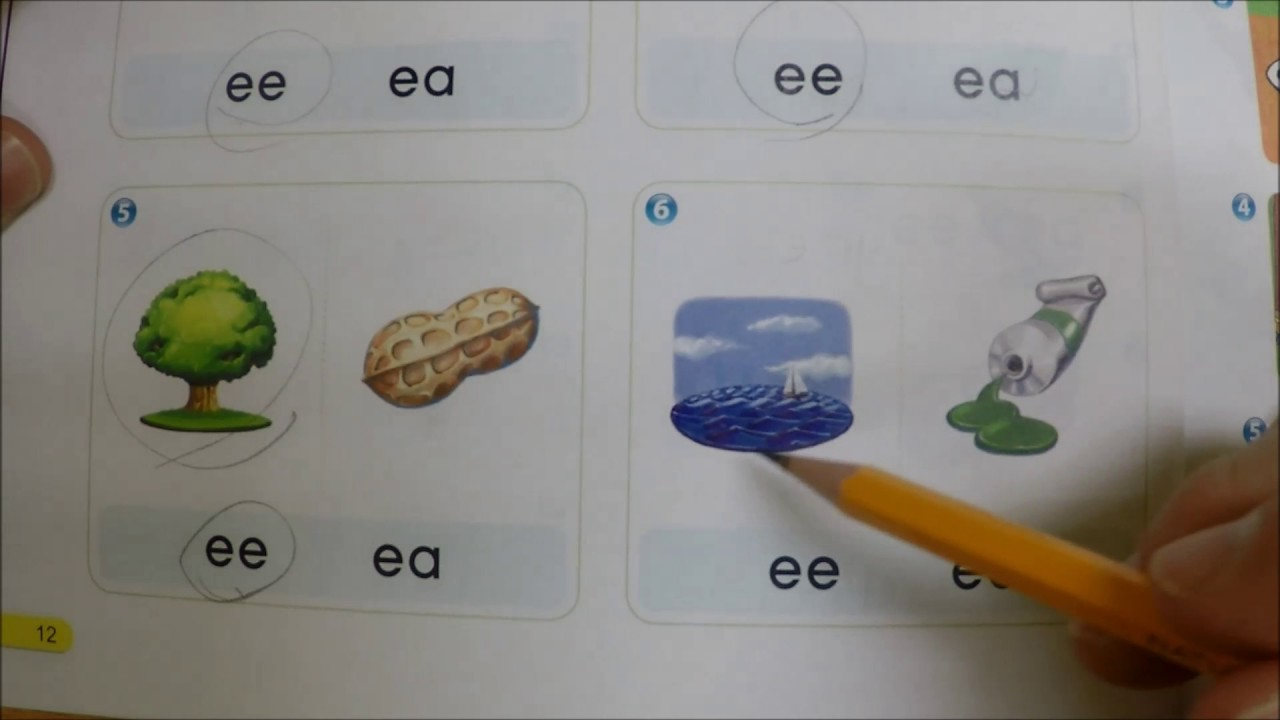 format of english letter%0A Phonics   Unit   Two Letter Vowels EE and EA
