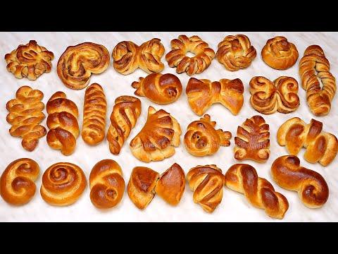 Ах, эти булочки! 25 способов формования домашних сдобных булочек! Формуем простые и сахарные булочки