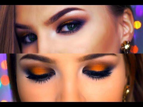 Orange | Smoky makeup Оранжевый макияж