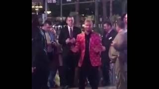 Brian Littrell dancing to Micheal Jackson at the iHeart Radio Festival 2016