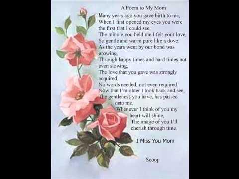 Poem: A poem to my Mom - YouTube