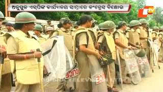 Eggs hurled at cops during Congress protest in Angul