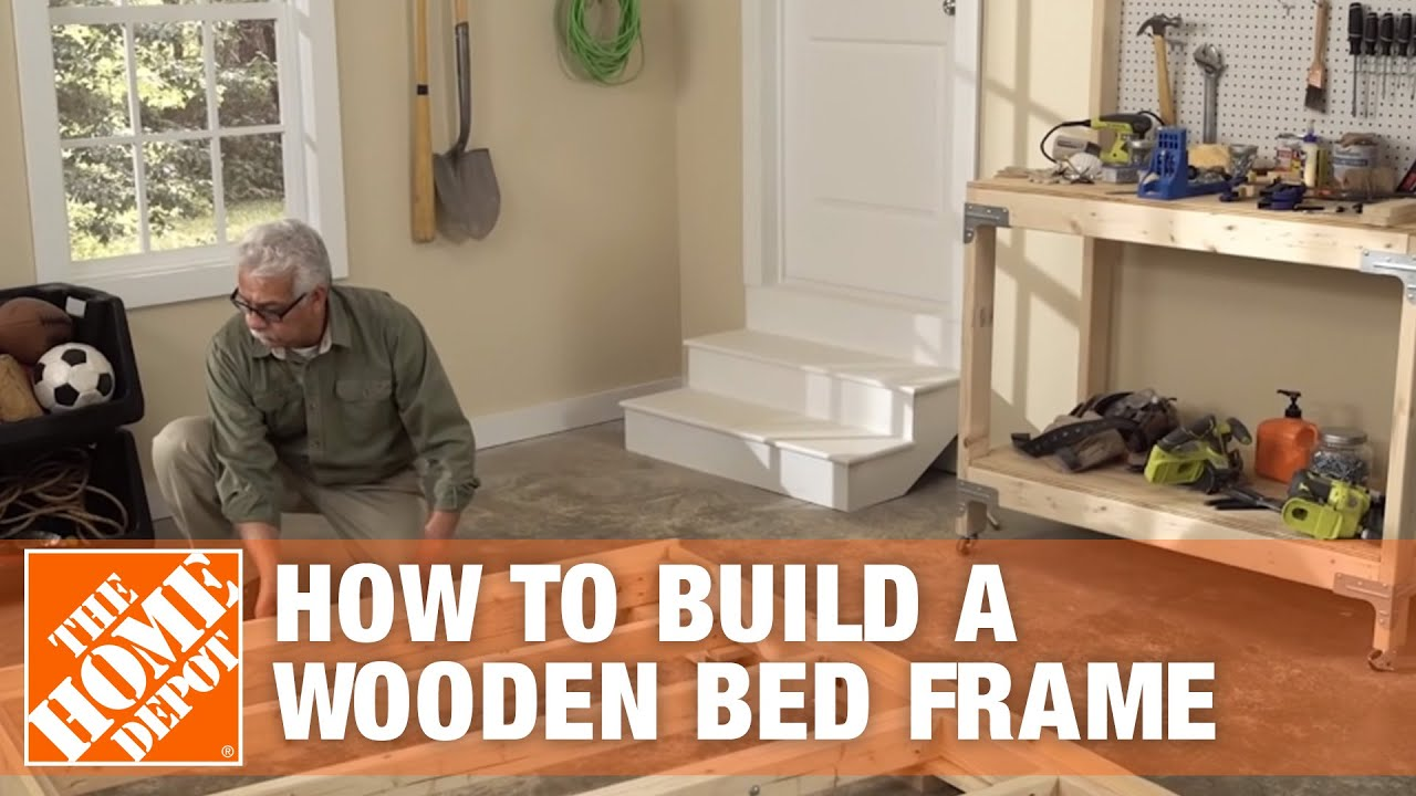 Diy Bed Frame How To Make A Wooden Bed Frame The Home Depot