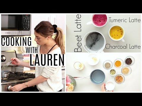 3 WELLNESS LATTES | COOKING WITH LAUREN!