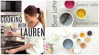 3 WELLNESS LATTES | COOKING WITH LAUREN!