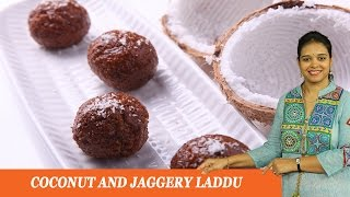 Coconut & Jaggery Laddu - Mrs Vahchef