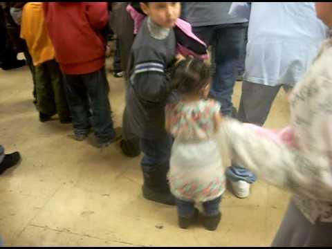 Athabascan kids dancing