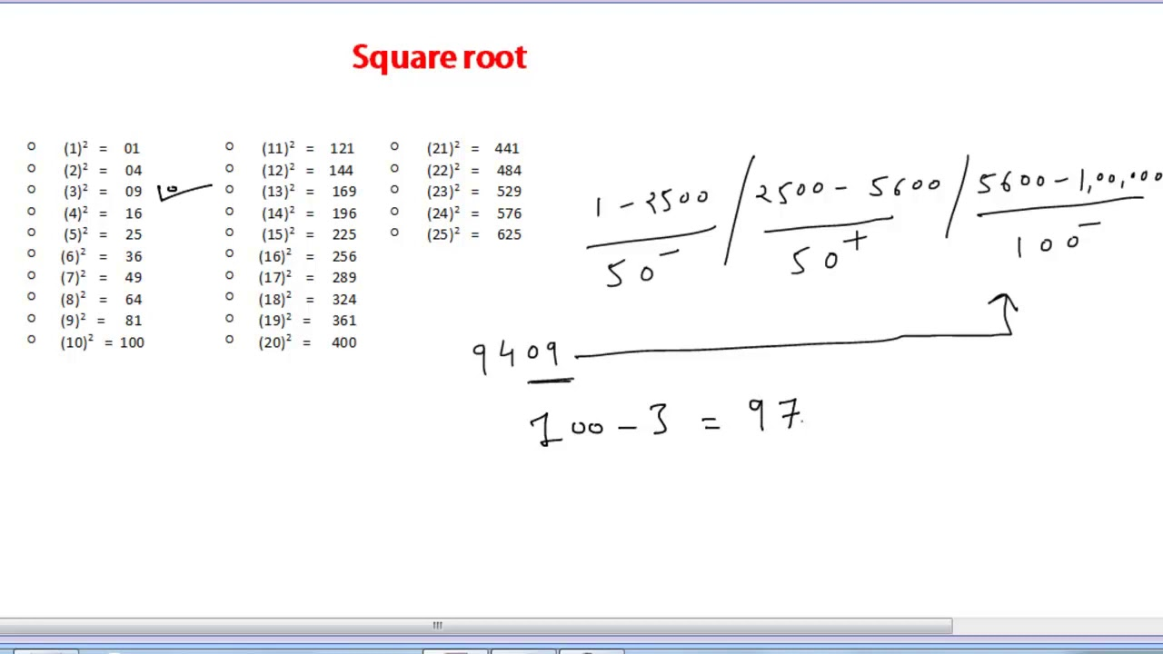 Square Root In 2 Sec For All Numbers Universal Method Youtube If you mean the square root of 225 then it is 15. square root in 2 sec for all numbers