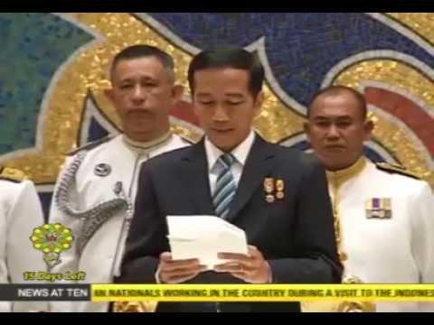 President Jokowi meets Sultan Hassanal Bolkiah of Brunei Darussalam.