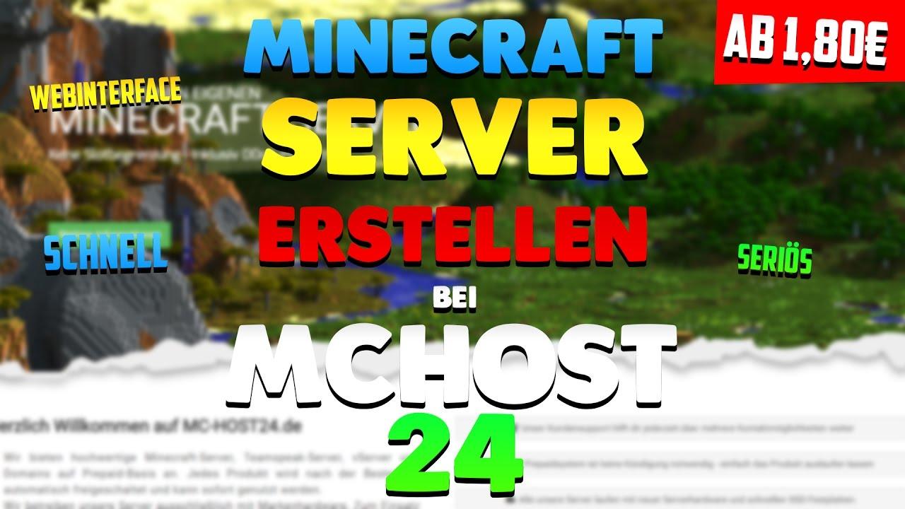 McHostde Minecraft Server In Minuten Einrichten YouTube - Minecraft server homepage erstellen