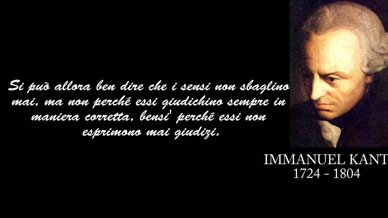 Frasi Celebri Di Immanuel Kant Youtube