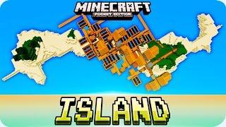 Minecraft PE Seeds - Double Village Island, Mineshaft, Jungle Temple Seed - MCPE 0.16.0 / 0.15.0
