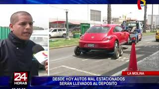 La Molina: autos mal estacionados en la vía pública serán llevados al depósito municipal