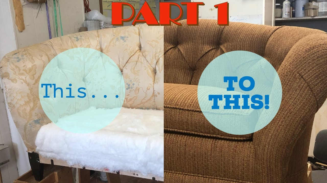 Diy Upholstering A Sofa Part 1, How To Reupholster A Chesterfield Sofa