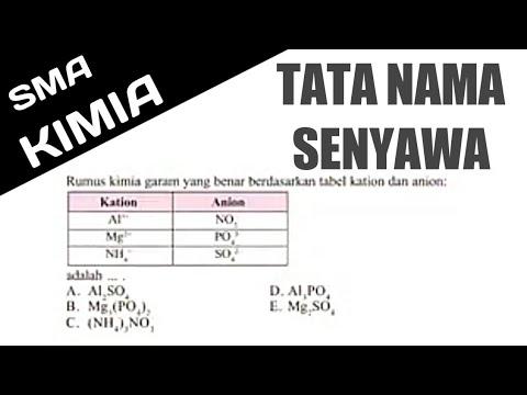 🔴TATA NAMA SENYAWA🔴Rumus Kimia Garam Yang Benar Berdasarkan Tabel Kation Dan Anion Diatas