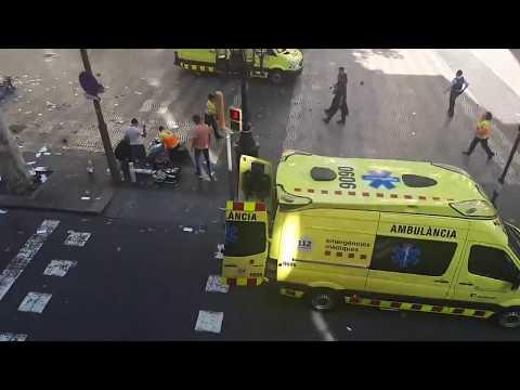 Van Crashes into Pedestrians on Barcelona's Las Ramblas