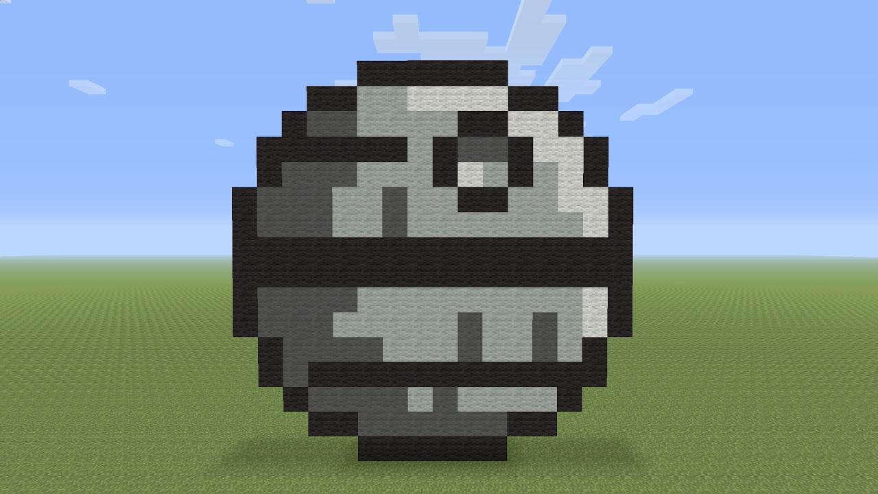 Minecraft Pixel Art Death Star