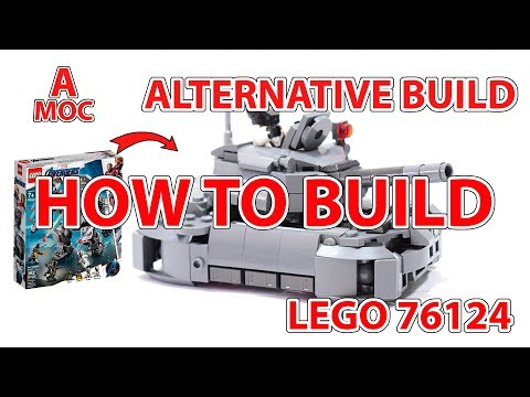 How to build military LEGO Tank  LEGO 76124 alternate build tutorial [A MOC]