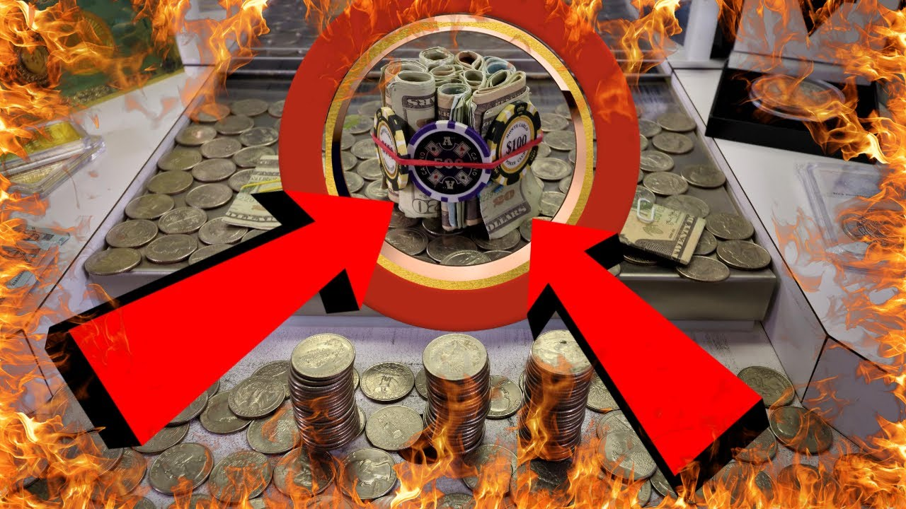 AMAZING Huge Cash Bundle inside the High Risk coin pusher! Couple Thousand in 1 Bundle!