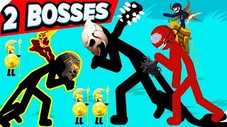 2 БОССА и Угарные битвы (Boss : The Kai Rider!) Stick war legacy update