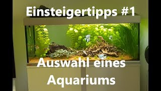 Einsteigertipps #1 Aquarium auswahl