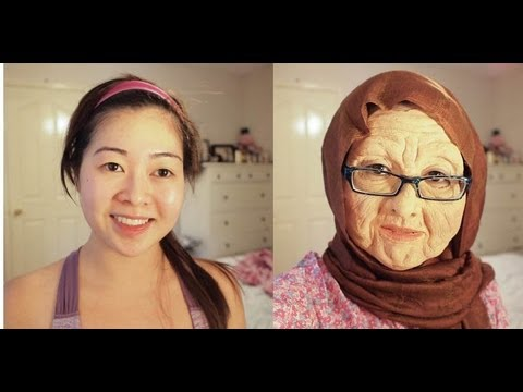 Old Lady Makeup Transformation with Foam Latex - YouTube