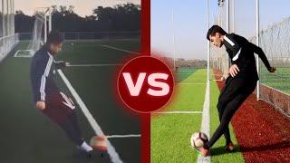 تحدي تقليد أصعب مهارات اللاعبين | لاعبين مو معروفين ومهارات رهيبة!!