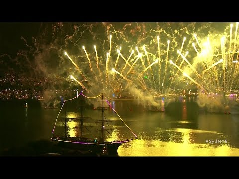 Australia sees in the New Year with spectacular fireworks over Sydney Harbour