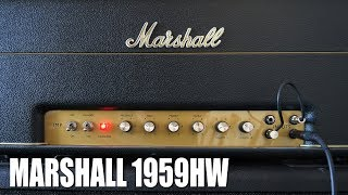 Marshall 1959HW Handwired Reissue 100w Plexi Amp Demo by Steve Riddle