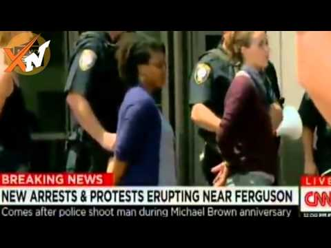 Ferguson shooting 2015 - Riots looting Arrest Shots fired protest Mike Brown death anniversary