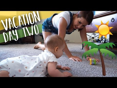 Teaching Baby Micah To Crawl On Vacation!