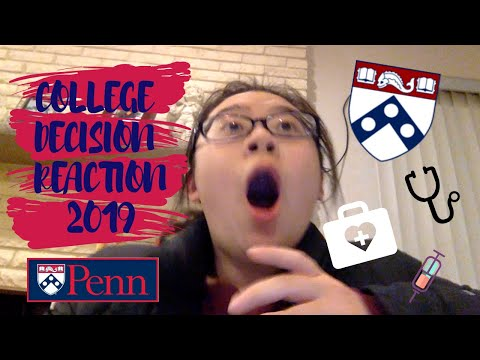 COLLEGE DECISION REACTION 2019- UPENN