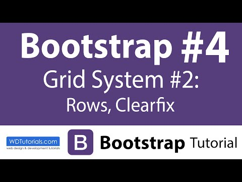 Bootstrap - How To Group Columns With Rows