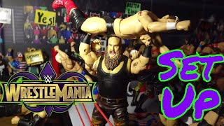 WWE Action Figure set up - WrestleMania