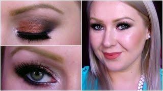 bronze smokey eye make up pro london palette tutorial